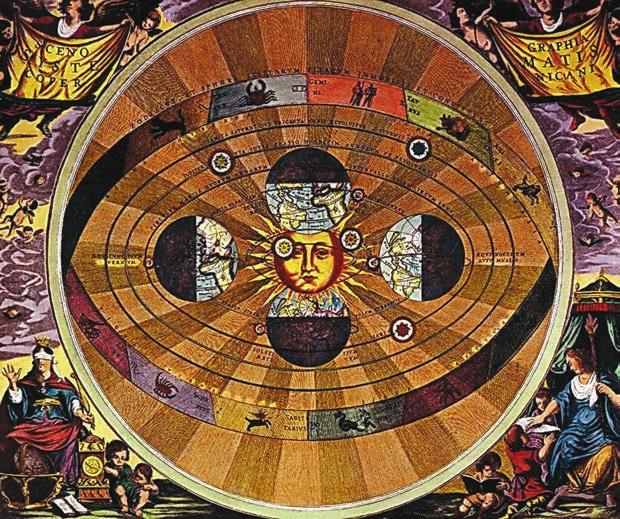 Зима, весна, лето, осень. Иллюстрация из атласа звездного неба «Гармония Макрокосмоса» (1660)