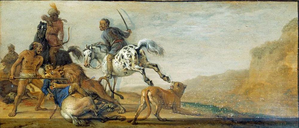 Паулюс Поттер. Наказание охотника (фрагмент). 1625–1654 годы