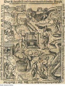 2А. Добыча серебра в Иоахимстале (гравюра 1548 года)
