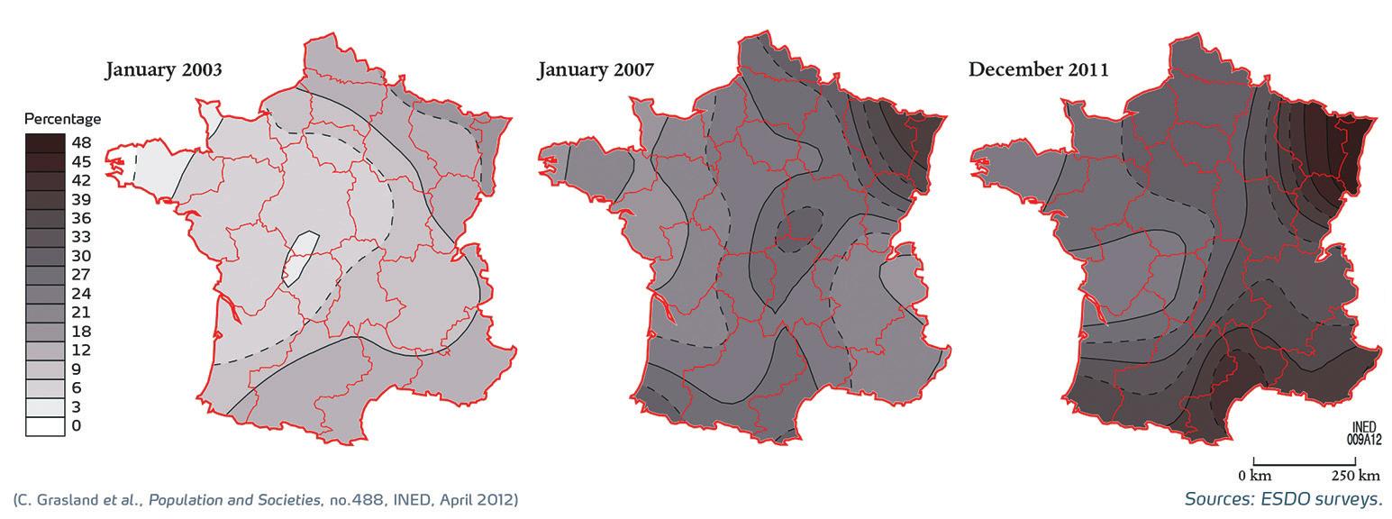4. Иностранные монеты во Франции: доля в зависимости от географии [5]