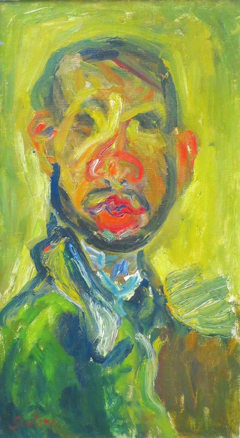 Хаим Сутин. Автопортрет. Холст, масло. 1916. Эрмитаж