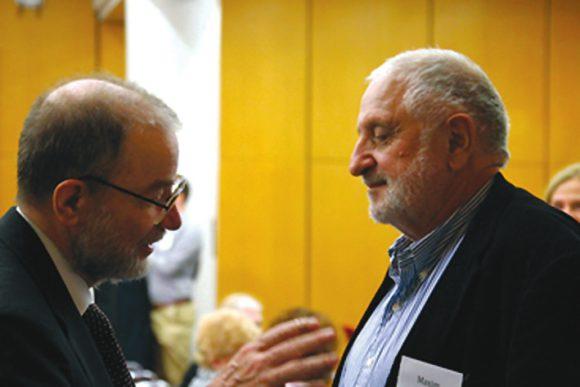 Алик Варшавский и автор на конференции памяти Рича в MIT в ноябре 2015 года