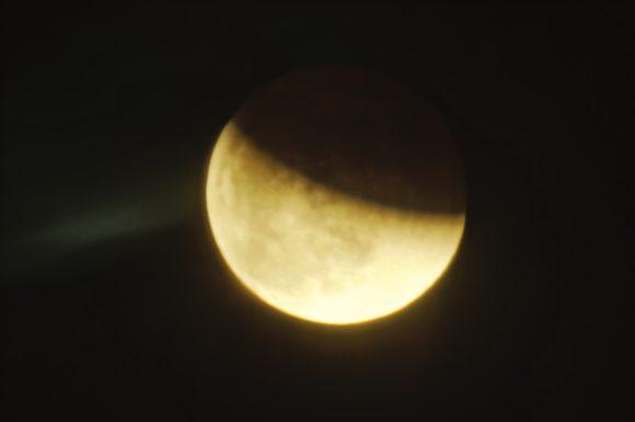 Лунное затмение 31 января 2018 года (фото автора)