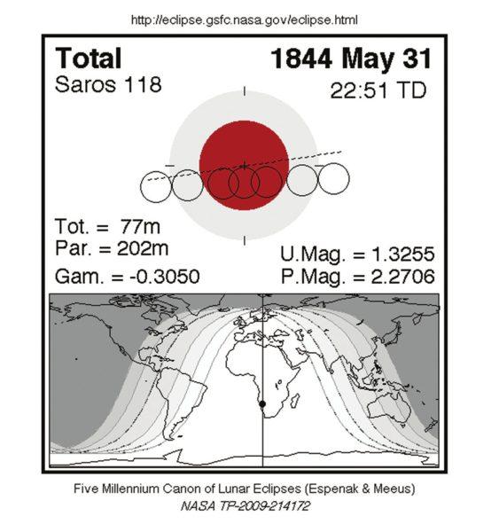 Схема затмения, которое фотографировал Кнорр. Фото с сайта eclipse.gsfc.nasa.gov