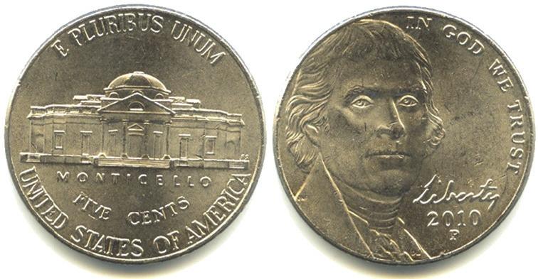 Рис. 2. Пять центов США