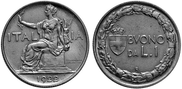 Рис. 5. Одна лира 1922 года