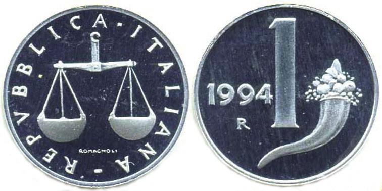 Рис. 10. Одна лира 1994 года