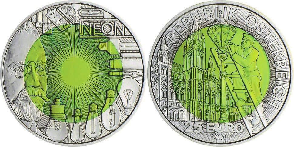 Рис. 3. Монета с ниобием. Австрия (2008)