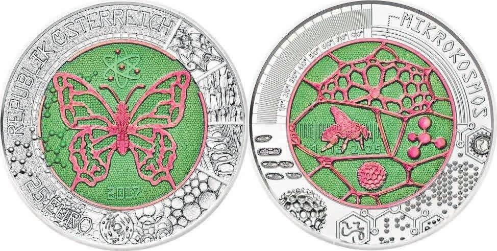 Рис. 7. Монета с ниобием. Австрия (2017)