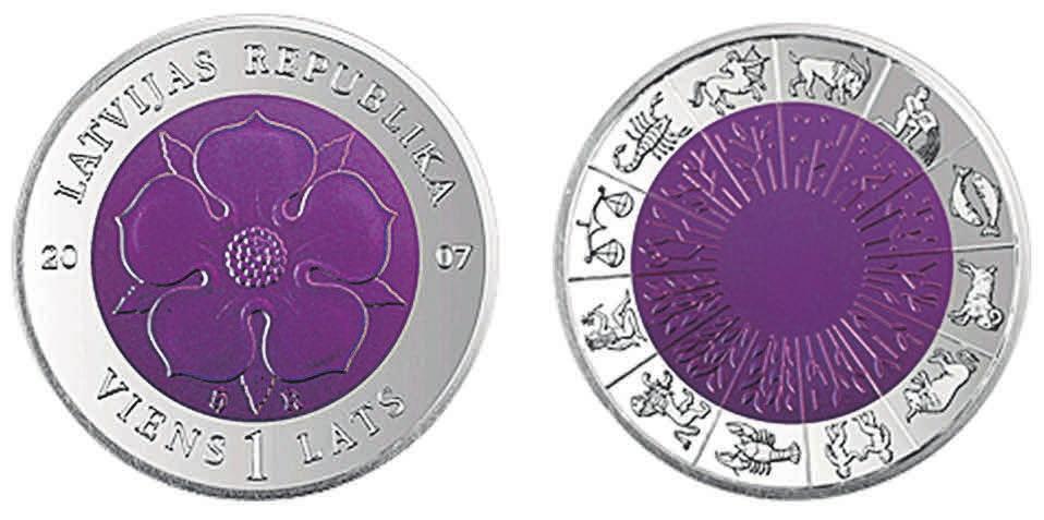 Рис. 8. Монета с ниобием. Латвия (2007)