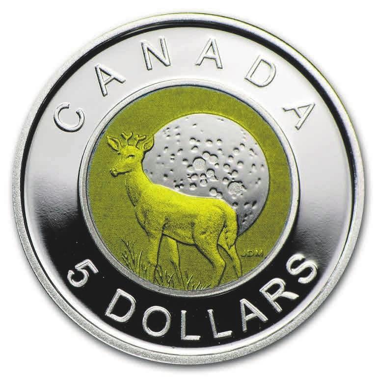 Рис. 10. Пять долларов с ниобием. Канада