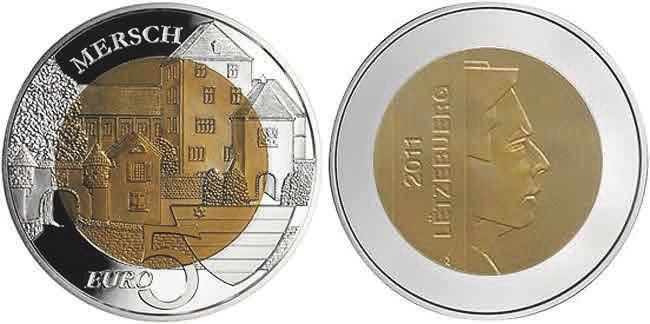Рис. 11. Монета с ниобием. Люксембург