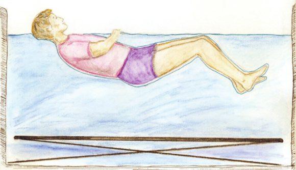 Условное положение испытателя в сухой иммерсии