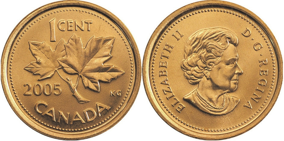 Рис. 8. Монета Канады (1 цент, 2004)