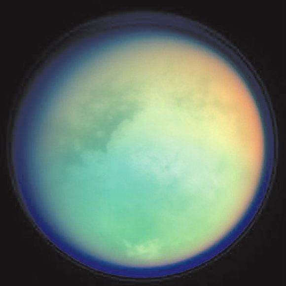 Мультиспектральный снимок Титана, выполненный «Кассини» 26 октября 2004 года (NASA/JPL/Space Science Institute)