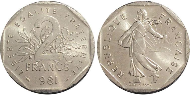 Рис. 12. Таких двухфранковых монет было отчеканено в 1979–2001 годах более полумиллиарда
