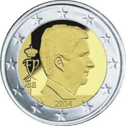 Рис. 13. Бельгия, новый король на монете