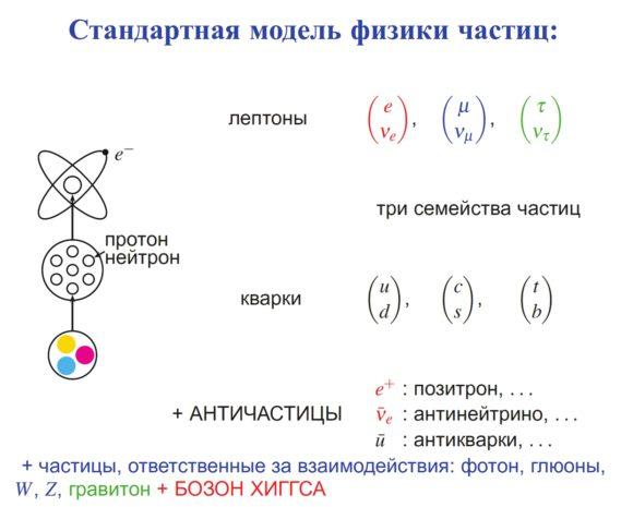 Рис. 1. «Зоопарк» частиц Стандартной модели