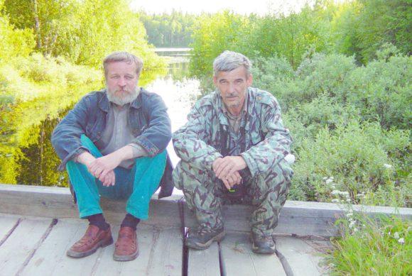 С Юрием Дмитриевым. Соловки, 2004 год (фото из архива А. Разумова)