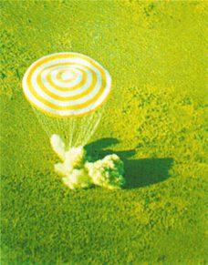 Посадка спускаемого аппарата космического корабля «Союз»