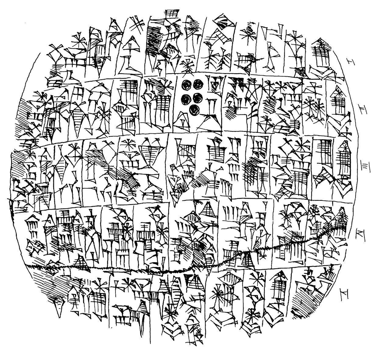 Рис. 7. Сборник заклинаний VAT 12597. Лицевая сторона. Копия выполнена М. Креберником. Оригинал хранится в Пергамском музее в Берлине. Опубликовано с разрешения М. Креберника