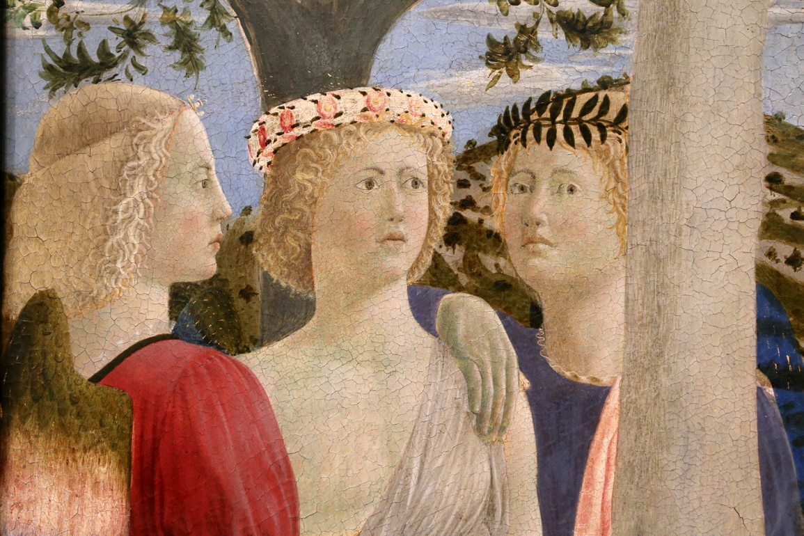 Рис. 2. Крещение Христа (Battesimo di Cristo). Фрагмент. Дерево, темпера. «Википедия»