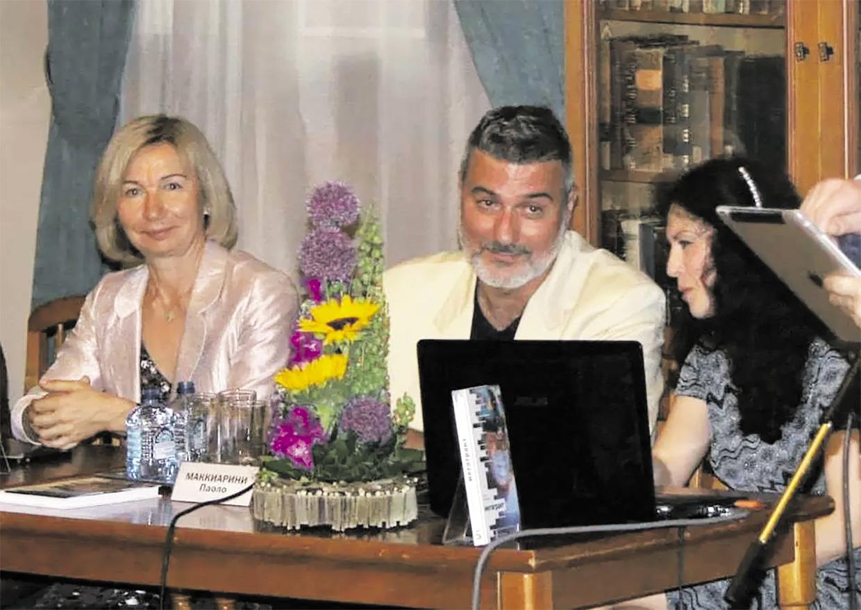 Презентация книги «Мегагрант». Елена Кокурина (слева) и Паоло Маккиарини. Фото: издательство «Бослен»
