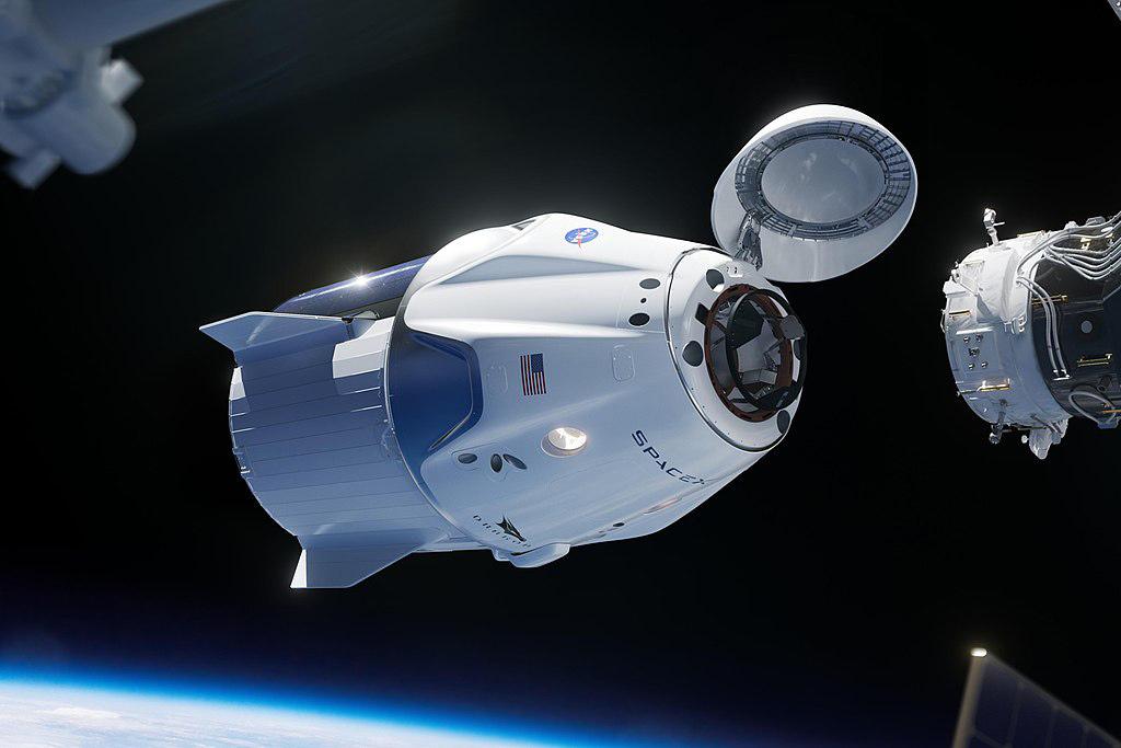 Стыковка корабля Dragon 2 с Международной космической станцией. Фото SpaceX