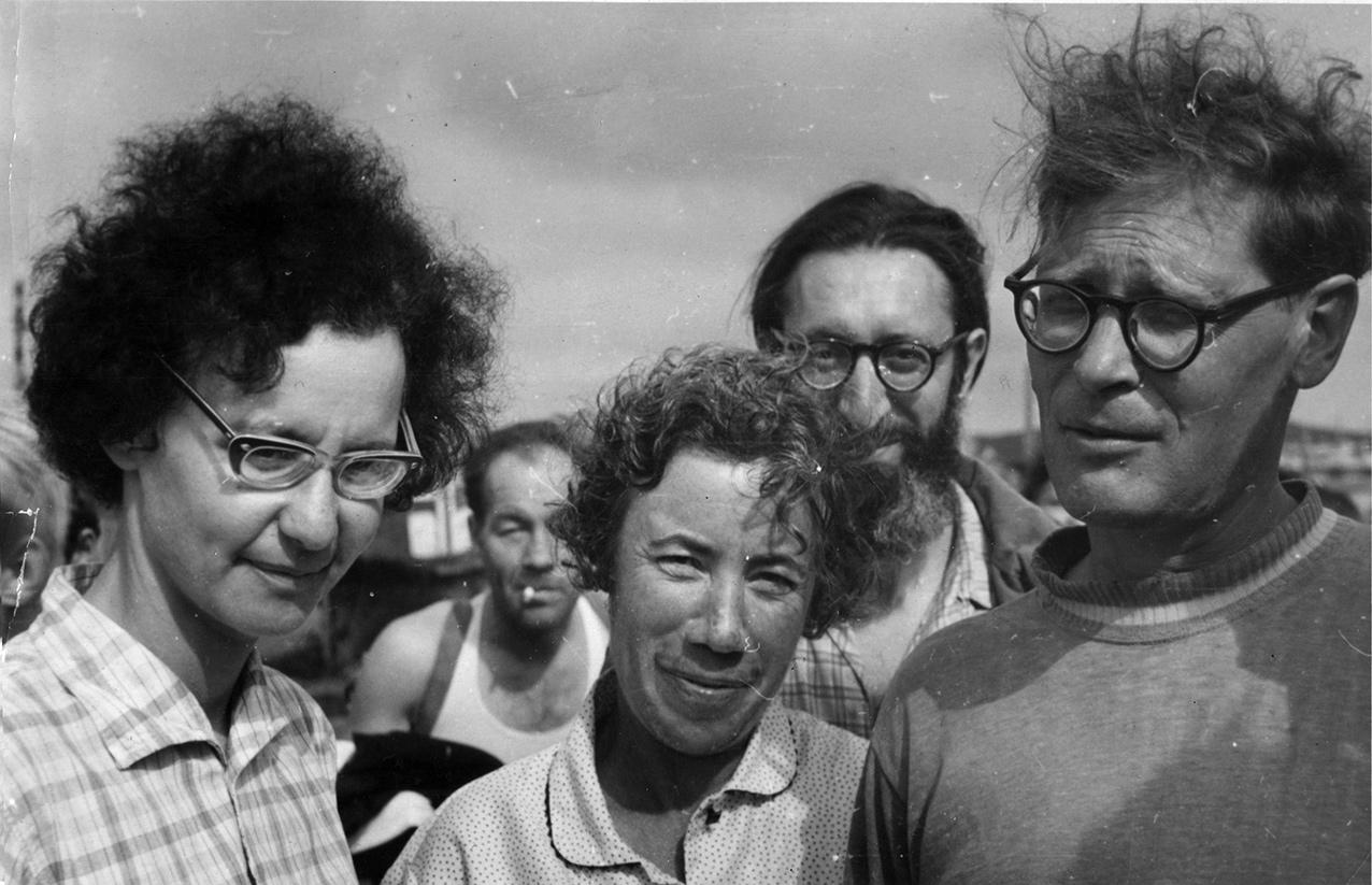 Ада Кусакина, Лина Зеликман, Михаил Беркинблит, Сергей Ковалев. Август 1969 года, биологическая экспедиция на Дальний Восток