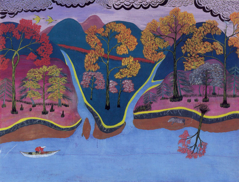По картинам самобытного художника Константина Панова (1810–1942, отец — ненец, мать — манси) можно представить, каким видят мир народы Севера