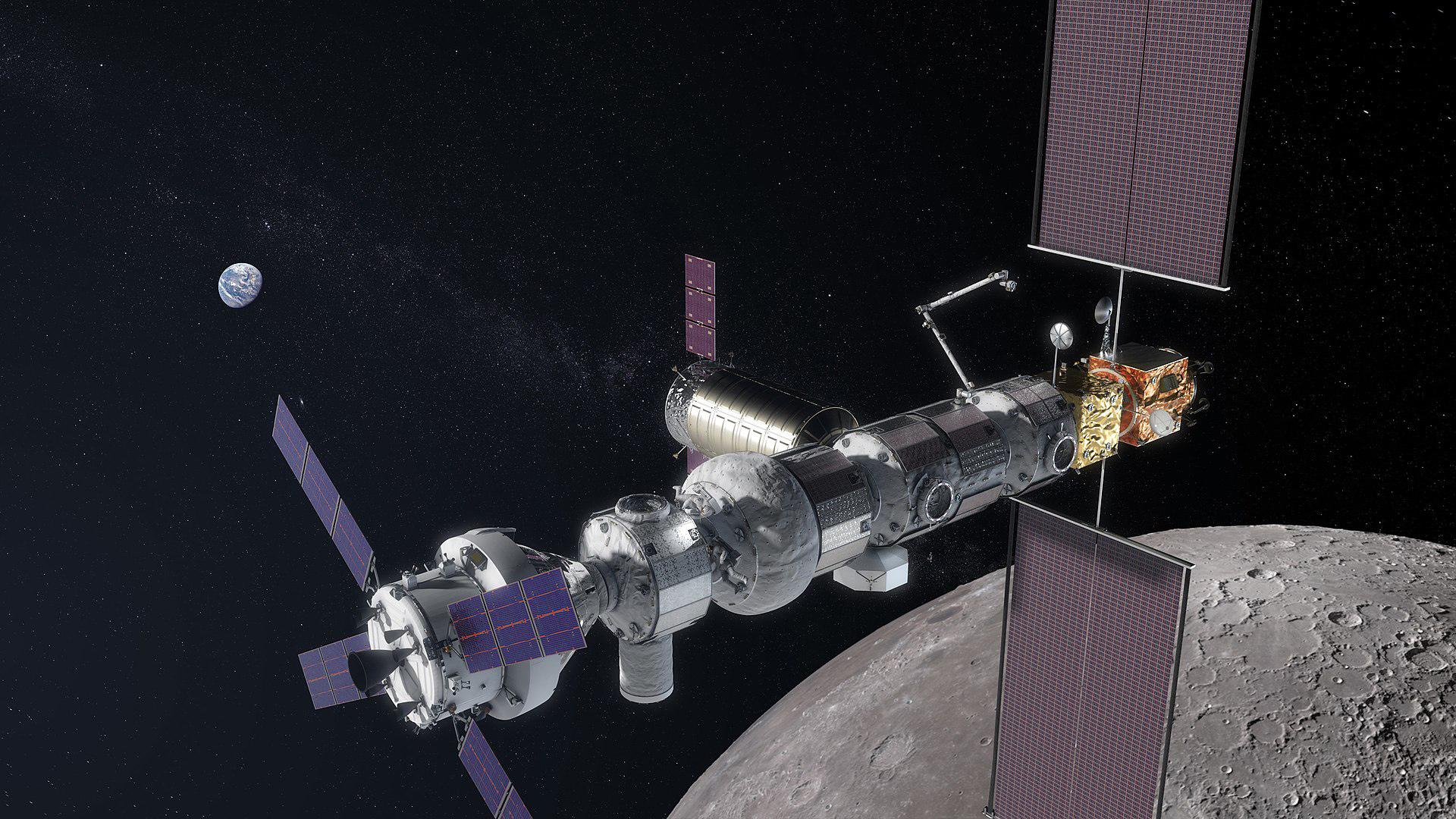Модель окололунной станции Gateway («Википедия»)