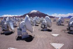 Центральная часть установки ALMA — одной из станций глобального интерферометра EHT