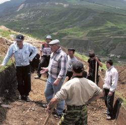 Вид раскопа на стоянке эпохи олдована Айникаб I в Дагестане