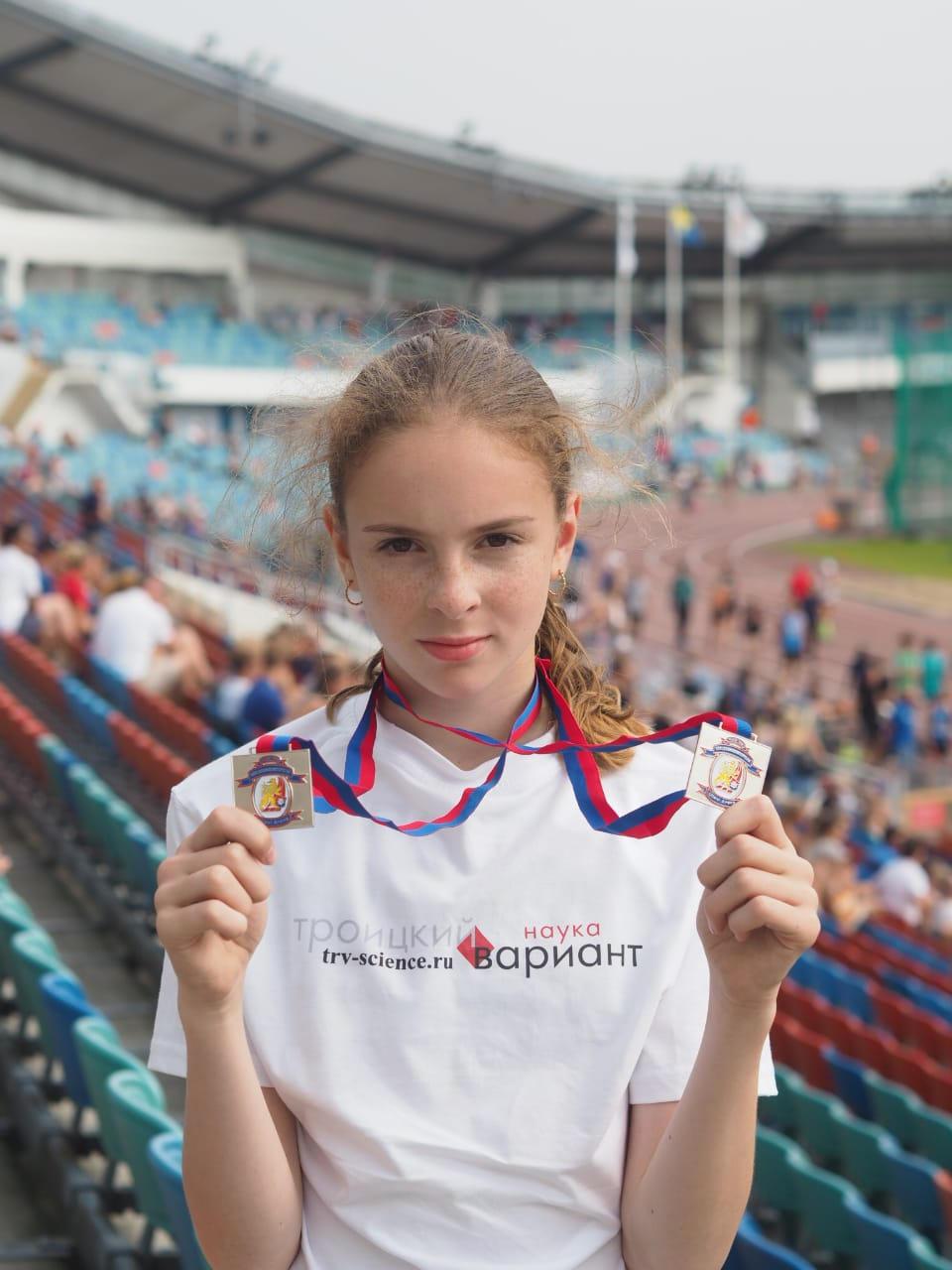 Софья Прибиль — две серебряных медали. Фото Миланы Прибиль