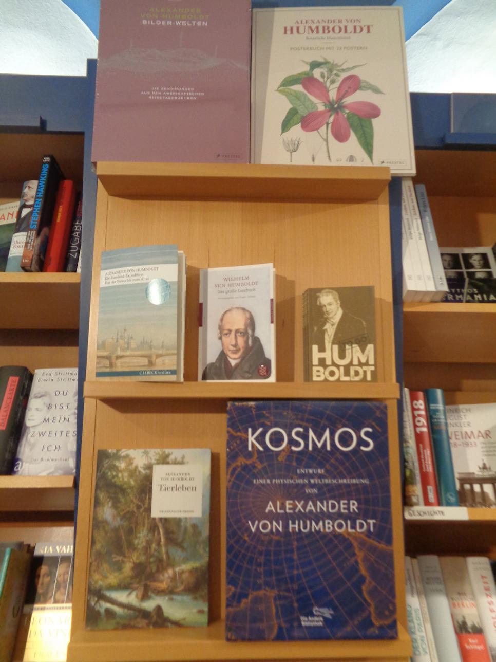 Рис. 3. Книги к юбилею А. Гумбольдта (магазин в Музее естествознания в Берлине)