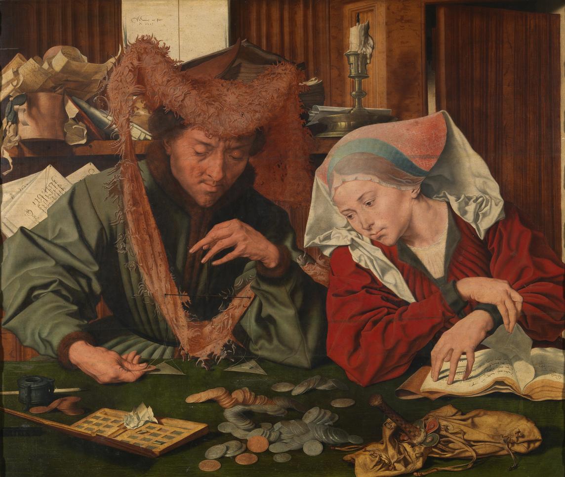 Маринус ван Реймерсвале. Меняла и его супруга. 1539. Музей Прадо, Мадрид