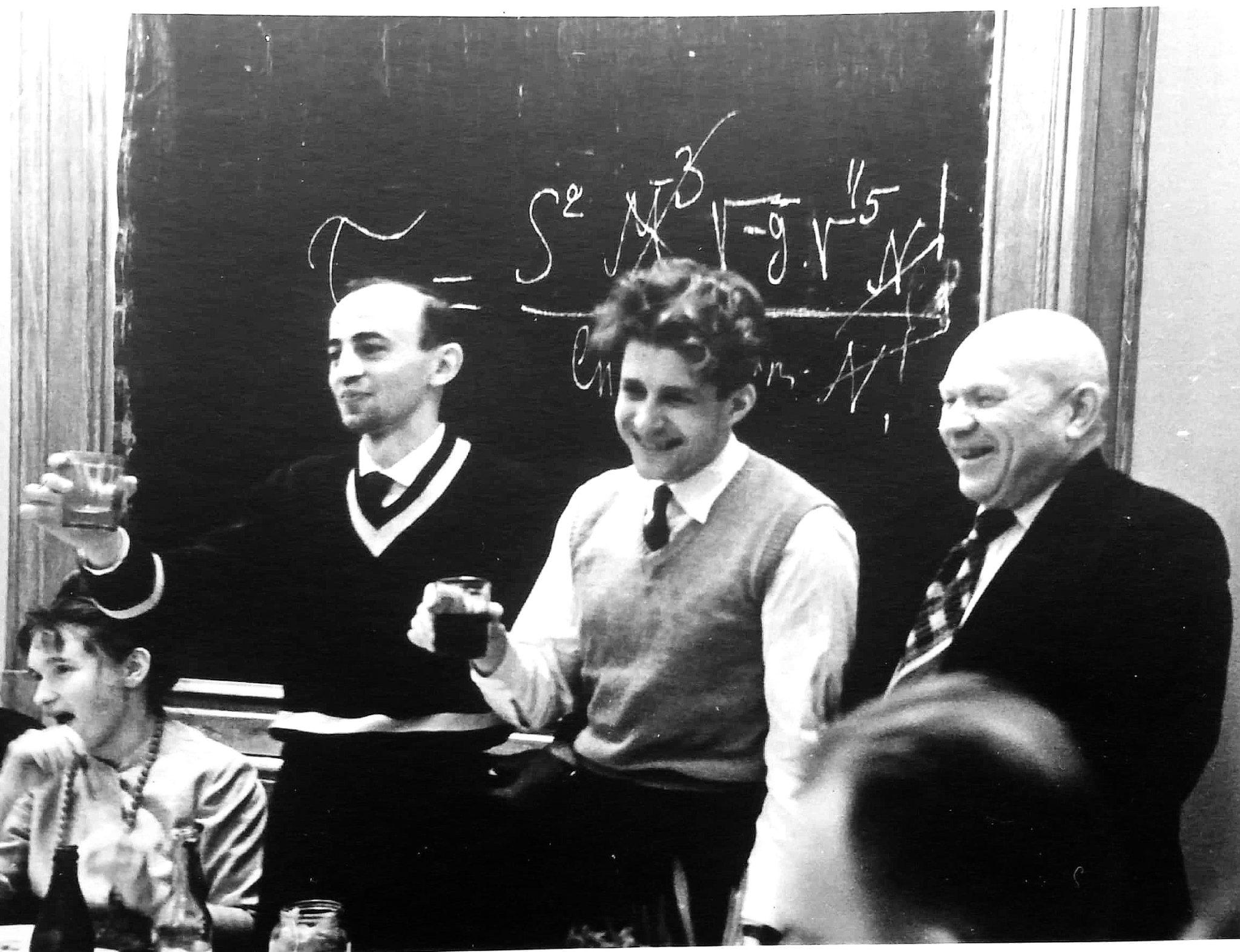 Слева направо: Элеонора Коток (жена И. Новикова), Игорь Новиков, Николай Кардашёв, Константин Куликов. Фото из архива И. Новикова