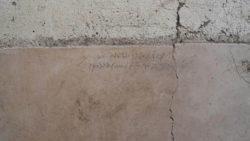 Надпись углем в Помпеях