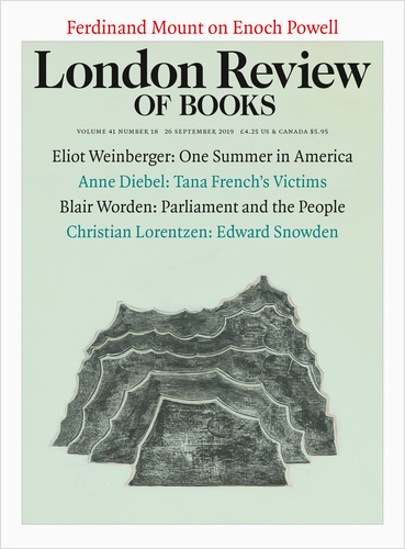 London review of Books Vol. 41 No. 18 26 September 2019