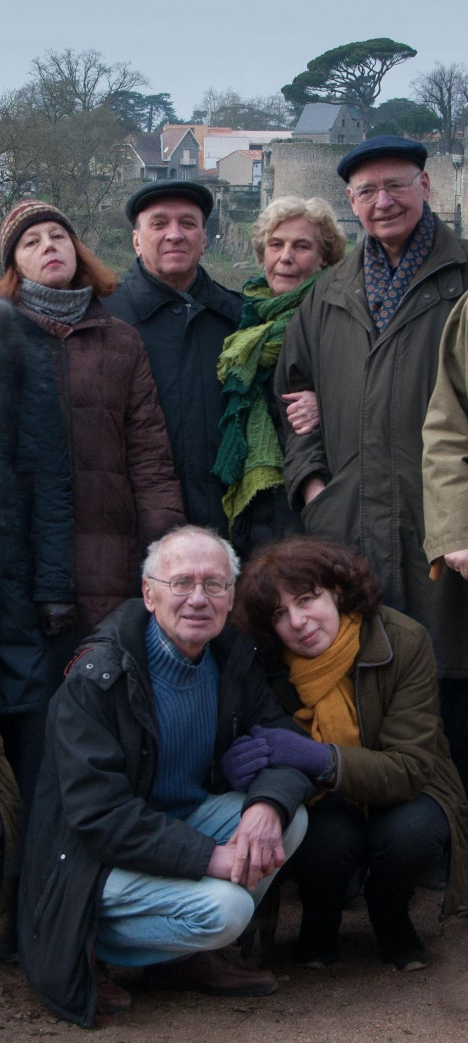 Ева и Йенс Райх со своими российскими друзьями с ¬1970-х годов, Семёновыми и Левицкими. Нант (Франция), январь 2015 года