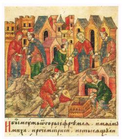 Рукопись «Лицевой летописный свод Ивана Грозного» (XVI век). Работа ювелиров