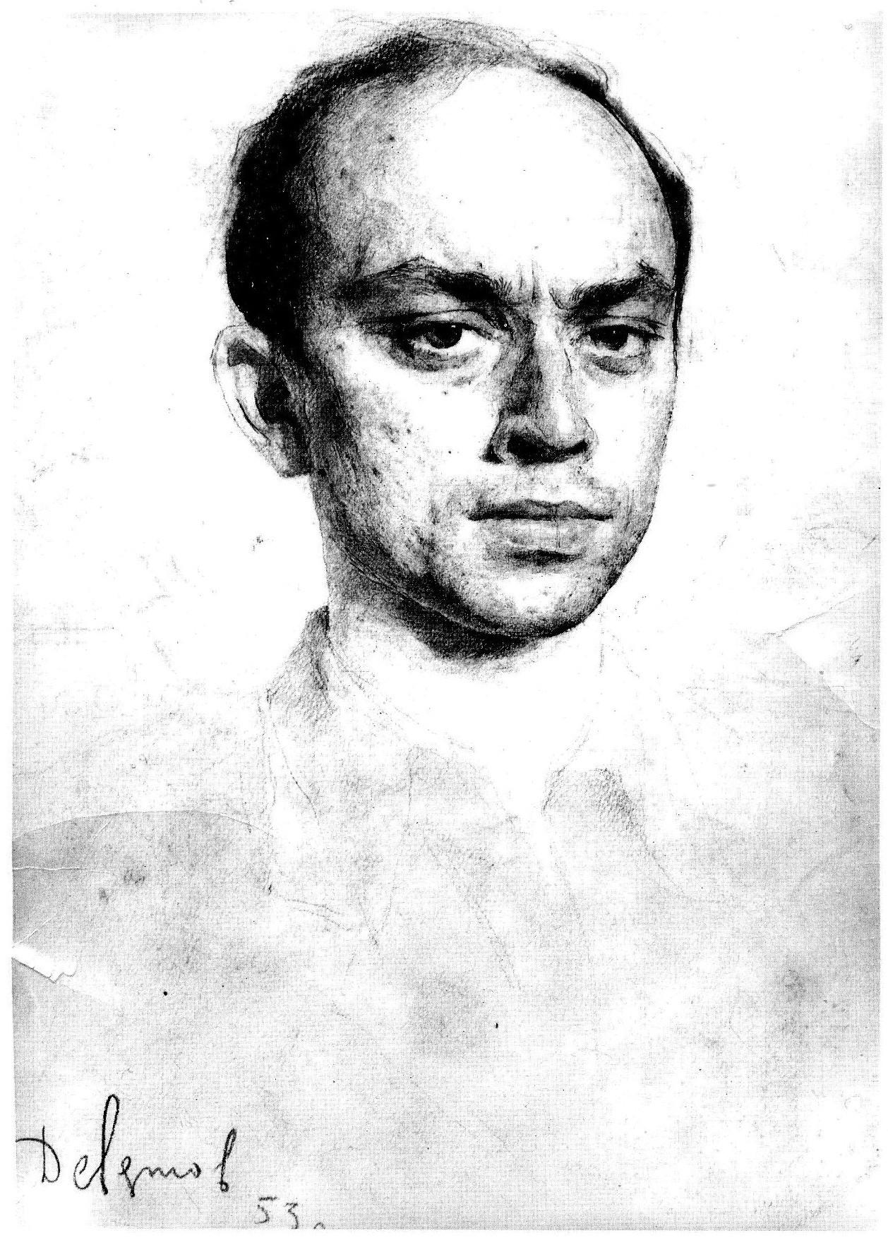 Портрет Л. С. Клейна работы М. М. Девятова (1953)