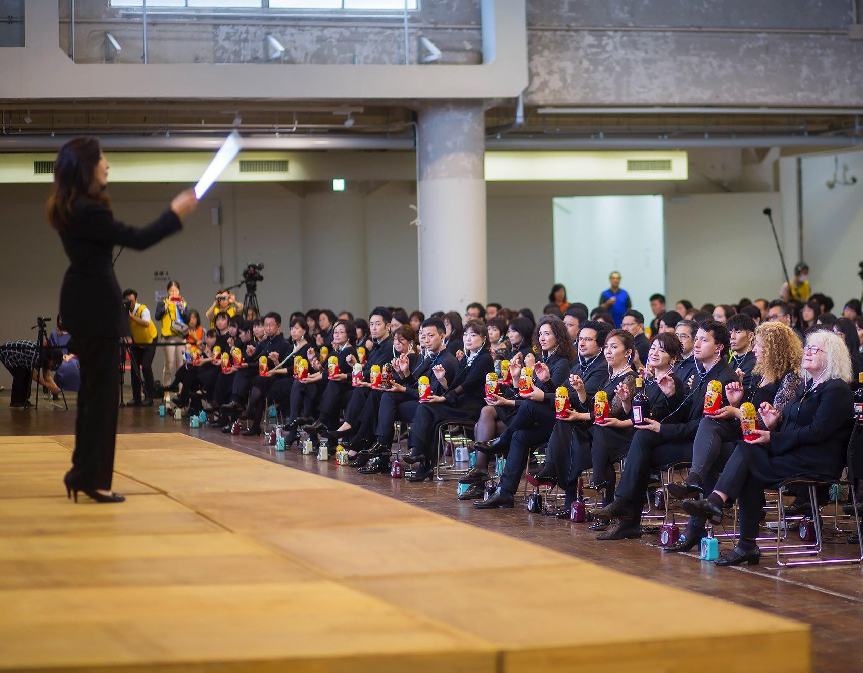 Концерт 14 сентября 2019 года с матрёминами для нового рекорда Книги Гиннесса. Фото Т. Ходовой. jp.rbth.com