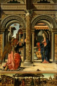 Франческо дель Косса. Благовещение. 1470–1472 годы. Картинная галерея, Дрезден
