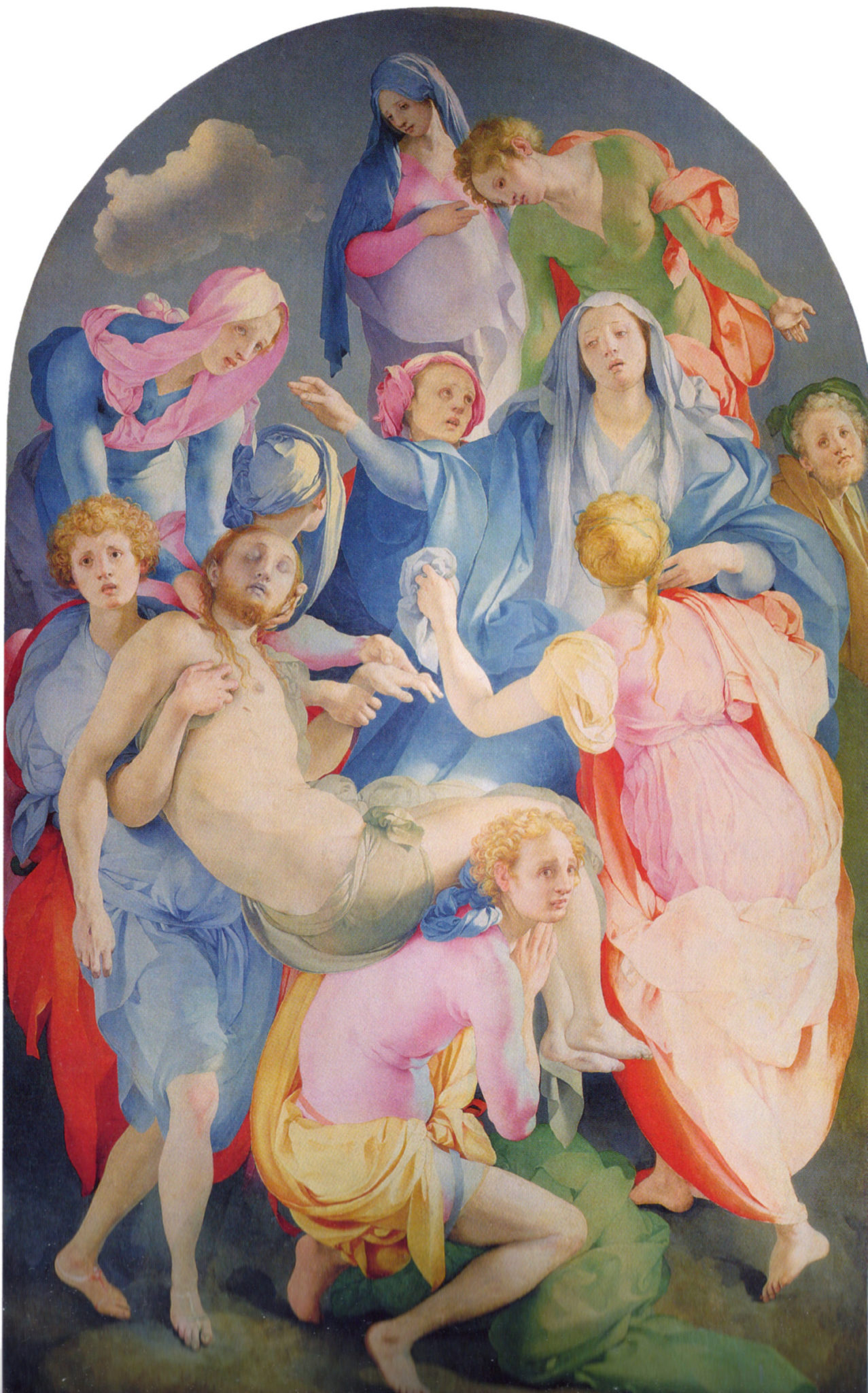 Понтормо. Снятие с креста. 1525–1528 годы. Алтарная картина в капелле Каппони церкви Санта-Феличита во Флоренции.