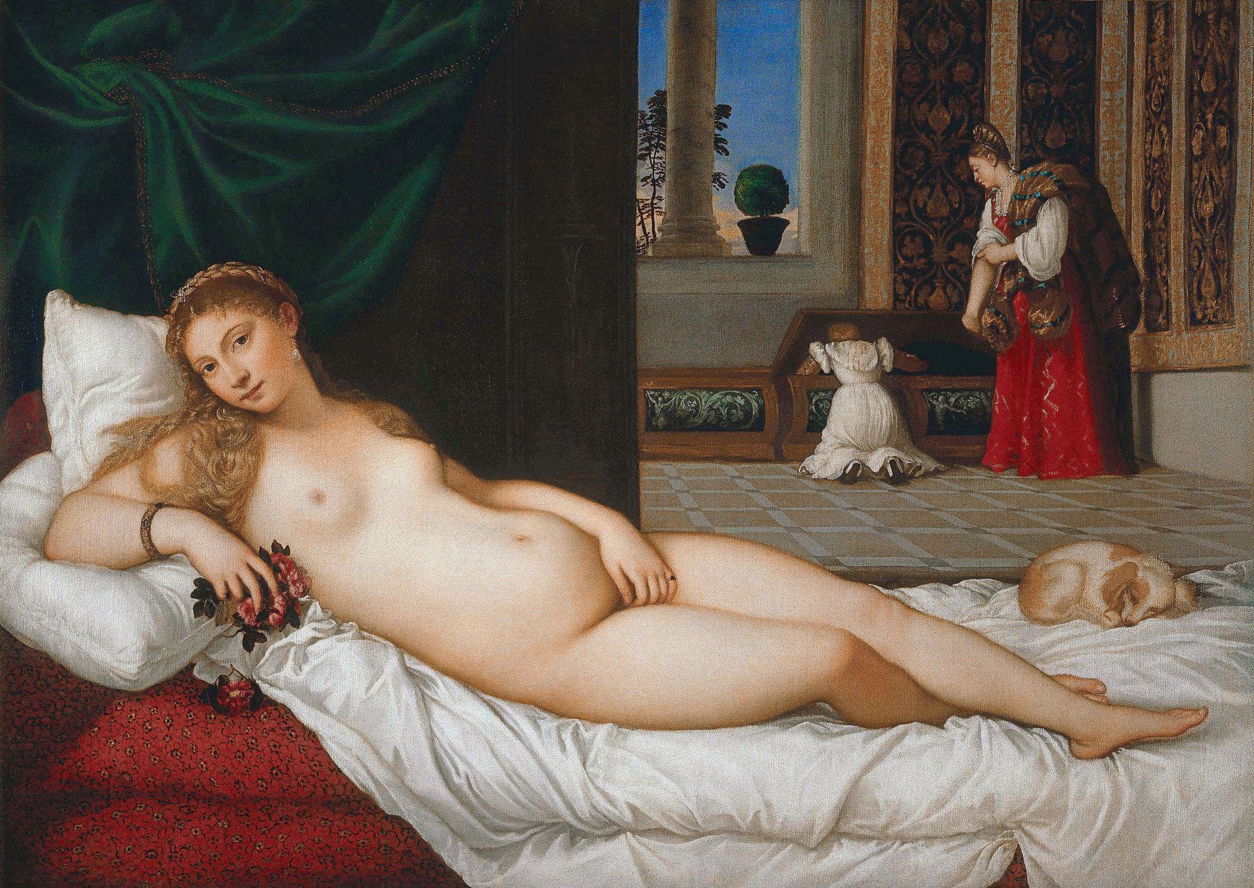 Тициан. Венера Урбинская. 1538 год. Галерея Уффици, Флоренция