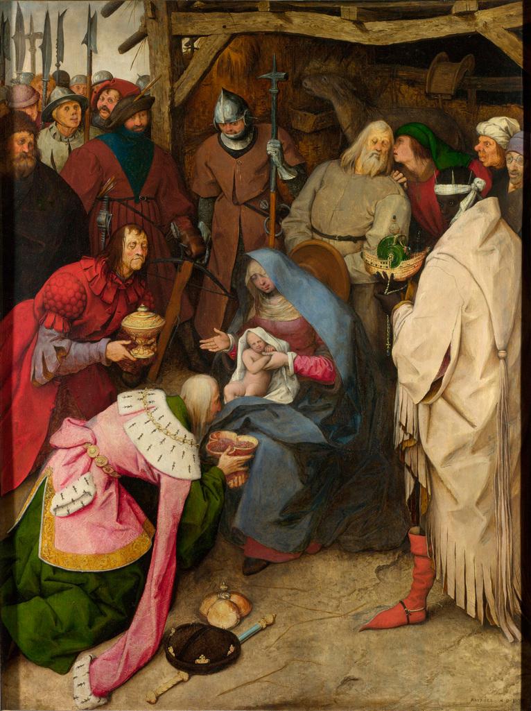Питер Брейгель Старший. Поклонение волхвов. 1564 год. Лондонская национальная галерея