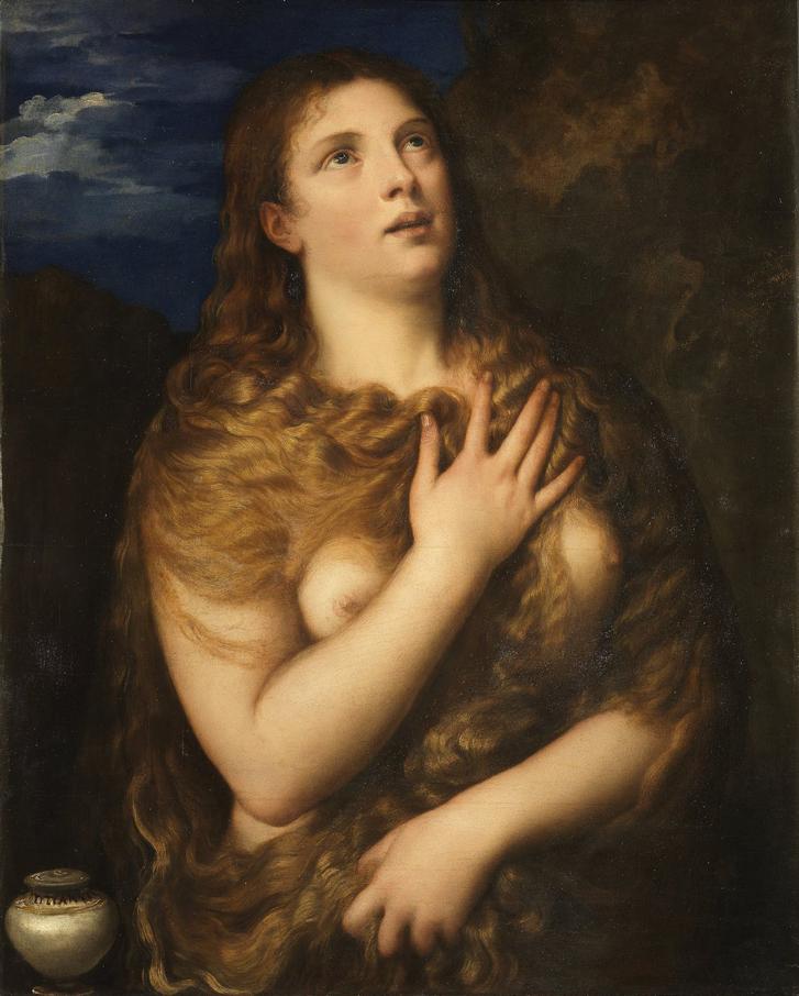Тициан. Кающаяся Мария Магдалина. Около1531. Палаццо Питти, Флоренция