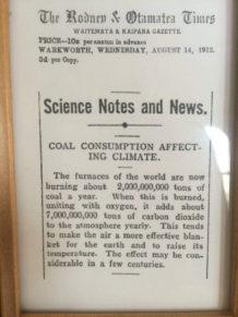 Рис. 5. Заметка из новозеландской газеты о климатических последствиях сжигания угля (1912)