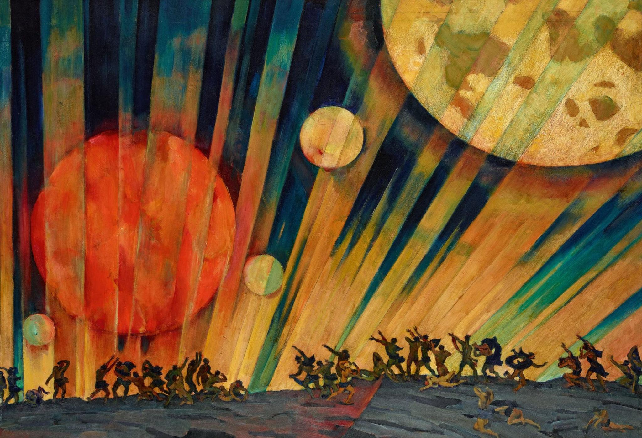 Картина Константина Юона «Новая планета» (1921)
